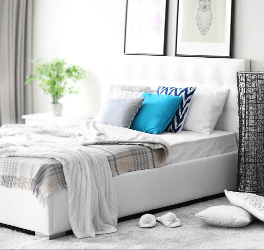 bed in a bedroom