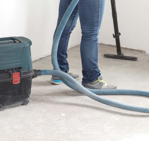 cleaning floor after builders work