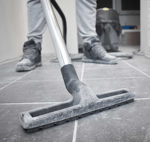 cleaning tiles after builders work