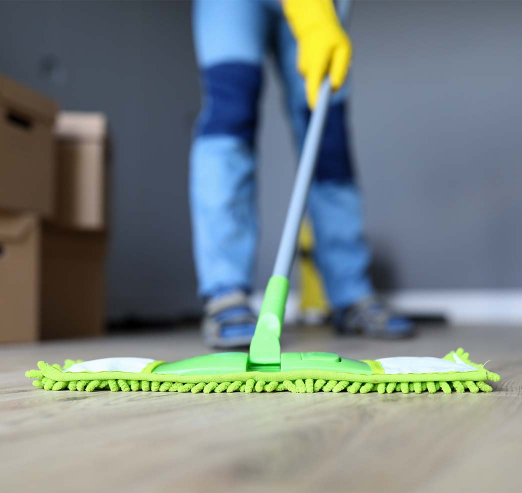 mopping the floor after builders work