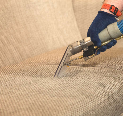 sofa cleaning with hot water extraction