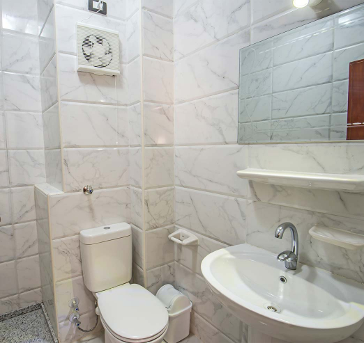 white bathroom in a holiday rental property